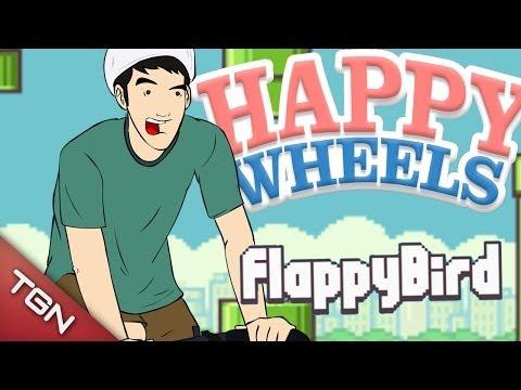 Happy wheels flappy bird