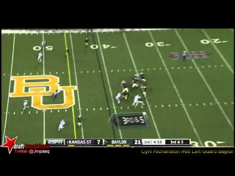 Spencer Drango vs Kansas State 2012 video.