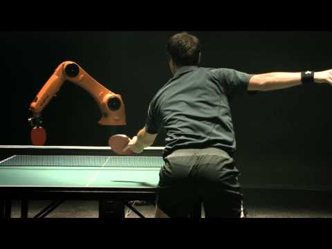 Remember the teaser with table tennis player Timo Boll vs the robot? Turns out there was no real game, just a shitty, over-edited advert.