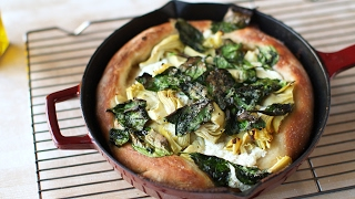 Artichoke & Spinach Skillet Pizza-Everyday Food with Sarah Carey by Everyday Food