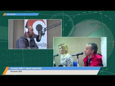 Viviana Niño y David Alberto Martínez en los estudios de Radio Jesús María.-