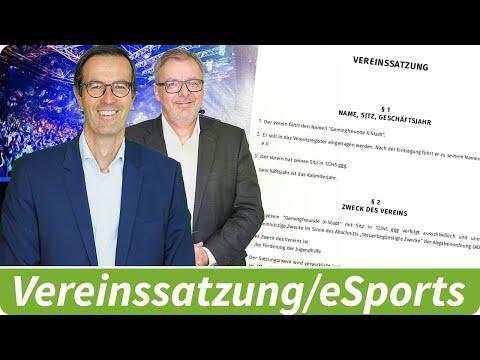 Vereinssatzung für einen eSports-Verein