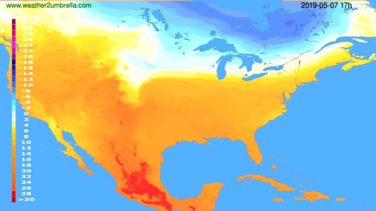 Temperature forecast USA & Canada // modelrun: 00h UTC 2019-05-06