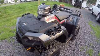 1. 2018 Polaris Sportsman 850SP!! Delivery and walk around.. Farewell Kingquad