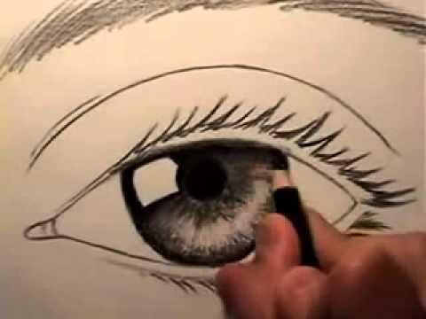 تعليم رسم العين سهل بالقلم الرصاص