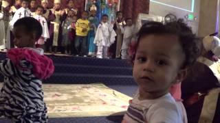 Very funny Kids singing in Ethiopian Orthodox Church Oakland, CA