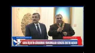 KayaÜçer'in Gökkube Yansımalar Sergisi ZKS'de açıldı