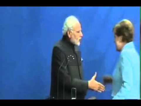 رئيس الوزراء الهندي يتعرض لموقف محرج مع المستشارة الألمانية انجيلا ميركل