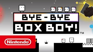 Qbby returns for one last adventure in BYE-BYE BOXBOY!, arriving on Nintendo eShop on March 23rd!A free BOXBOY! series demo version is now available to try.#Nintendo #3DS #Nintendo3DSOfficial Website: http://www.nintendo.co.uk/Games/Nintendo-3DS-download-software/BYE-BYE-BOXBOY--1203712.html?utm_medium=social&utm_source=youtube&utm_campaign=BYEBYEBOXBOY%7CTrailerFacebook Nintendo 3DS: https://facebook.com/Nintendo3DSTwitter Nintendo UK: https://twitter.com/NintendoUKTwitch Nintendo UK: https://twitch.tv/NintendoUKInstagram Nintendo Switch UK: https://instagram.com/NintendoSwitchUKInstagram Nintendo UK: https://instagram.com/NintendoUKYouTube Nintendo UK: https://bit.ly/2cREWfu