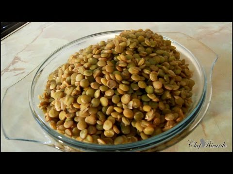 How To Cook Green Lentils At Home ( (Jamaican Chef) ) | Recipes By Chef Ricardo