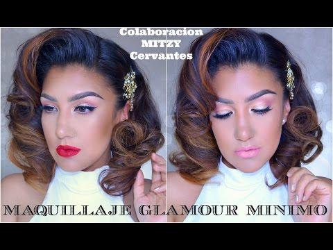 Maquillaje MINIMO GLAM Colaboracion MYTZI CERVAVNTES / Minimal Glam Makeup tutorial | auroramakeup