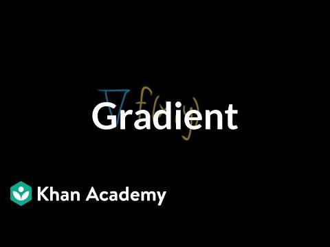 Gradient Video Khan Academy