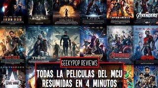 Todas las películas del MCU resumidas en 4 minutos - GeekyPopReviews