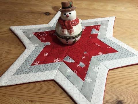 patchwork - centrotavola natalizio a forma di stella