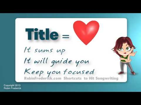 how to write a song - Take the first step in a step-by-step method that will show you how to write memorable, expressive songs with plenty of listener appeal! Use your song title ...