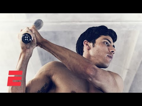 Video: Christian Yelich in the Body Issue: Behind the scenes   Body Issue 2019