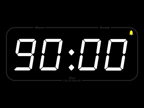 90 MINUTE - TIMER & ALARM - 1080p - COUNTDOWN