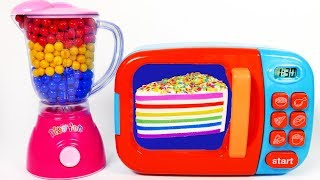 Video Squishy Rainbow Cake and Microwave Playset for Kids Learn Colors with Play Doh for Children MP3, 3GP, MP4, WEBM, AVI, FLV Agustus 2017