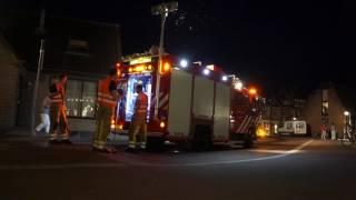 Brandweer rukt uit om dieselspoor te verwijderen