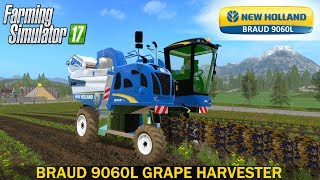 New Holland 9060L harvest grapes for Mining & Construction Economy map FS17.This mod is full funcional and the log don´t have any error,  but need small adjustments, maybe in a next version.Developer website FS 17 - http://www.farming-simulator.comWebsite mods - https://www.modsgaming.usFS 17 fan group facebook - https://www.facebook.com/groups/FarmingSimulatorMods/FS 17 fan group VK - https://vk.com/farming_simulator_2013_gamePlaylist FS 17 - https://www.youtube.com/playlist?list=PL54hHM4RuNpdwE1PKqLxgb5r59byxQTolLink Mod NEW HOLLAND BRAUD 9060L - https://www.modsgaming.us/load/farming_simulator_2017/fs_17_combines/new_holland_9060l_v0_1/12-1-0-1416Link Map MINING & CONSTRUCTION ECONOMY V0.4 - https://www.modsgaming.us/load/farming_simulator_2017/fs_17_maps/mining_construction_economy_v0_4/28-1-0-1445