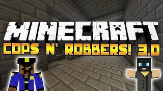 Minecraft Mini-Game: Cops N' Robbers 3.0! #3: w/Deadlox, MCfinest, xRpMx13&Bodil40!
