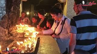 إحتفالات وترانيم وصلوات وإشعال الشموع في دير السيدة العذراء بدرنكة