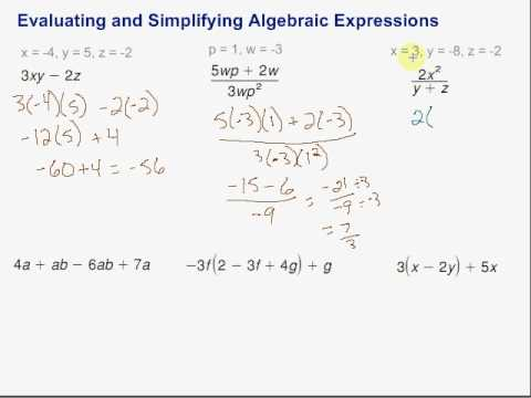 Evaluating Expressions Using Algebra Calculator