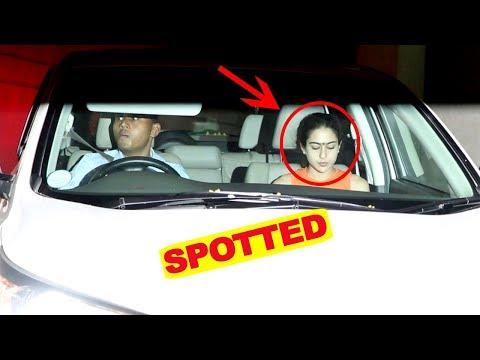 Sara Ali Khan Spotted At David Dhavan's Office