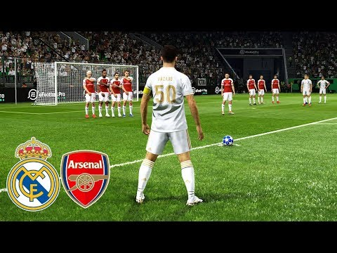 ⚽ REAL MADRID VS ARSENAL / Full Match and Amazing Goals / PES 2019