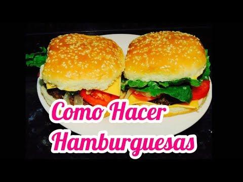 COMO HACER HAMBURGUESAS 😋