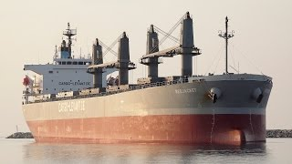 Alexandroupolis Greece  city photo : Bulk carrier ship RED JACKET collision at Port of Alexandroupolis/Greece [4K]