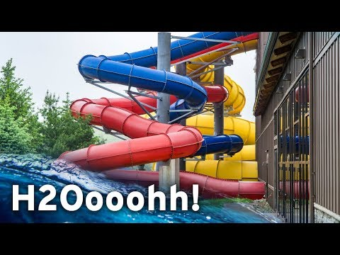 INDOOR WATERPARK IN PENNSYLVANIA: H2Oooohh! at Split Rock Resort (All Slides POV)