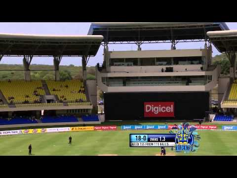 Thisara Perera 35 runs in an over off Robin Peterson