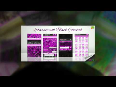 Video of Purple Black Zebra Star Theme