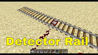 Minecraft - Crafting Detector Rails and Activator Rails