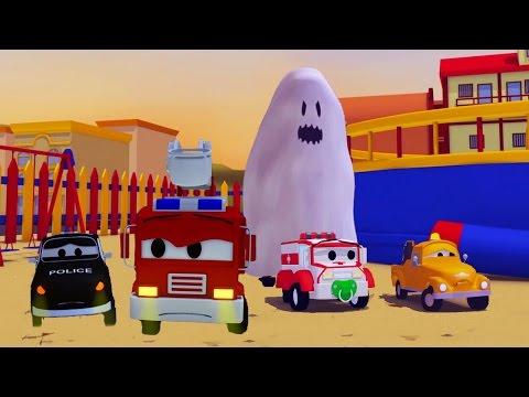 Video La Super Patrulla: camión de bomberos y patrulla de policía, y el Fantasma en Auto City   HALLOWEEN download in MP3, 3GP, MP4, WEBM, AVI, FLV January 2017