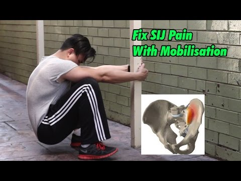 FIX Sacroiliac Joint Pain With Mobilisation/ Decompression Exercises (SIJ PAIN)