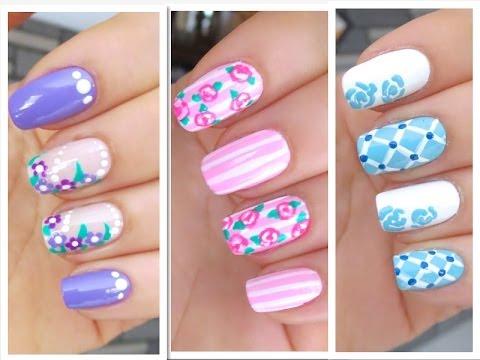 3 nail art com flores