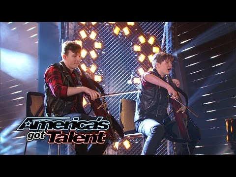 "Emil & Dariel: Cellists Cover Aerosmith's ""I Don't Want To Miss a Thing"" - America's Got Talent 2014"