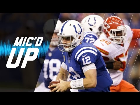 Video: Andrew Luck Mic'd Up vs. Chiefs (Week 8) | Sound FX | NFL Films