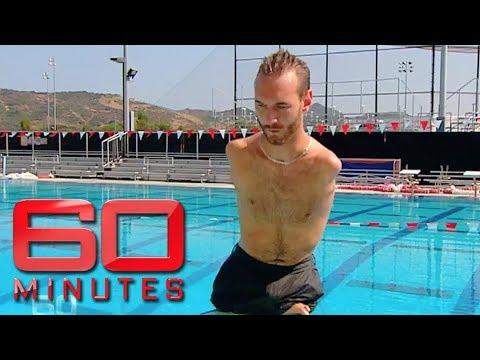 Inspiring man born without arms or legs - Nick Vujicic   60 Minutes Australia