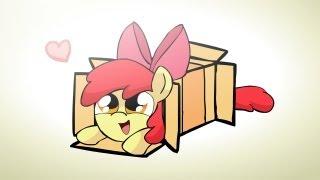 Ponies sliding into a box v2.0