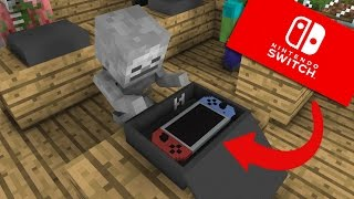 Video Monster School: Unboxing Nintendo Switch - Minecraft Animation MP3, 3GP, MP4, WEBM, AVI, FLV Februari 2018