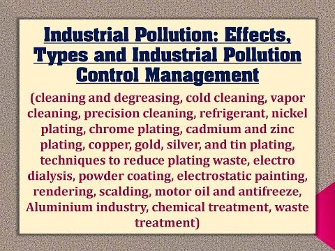 Industrial Pollution: Effects, Types and Industrial Pollution Control Management