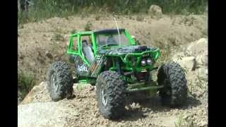 Axial Wraith Rc Truck Trailing And Hill Climbing