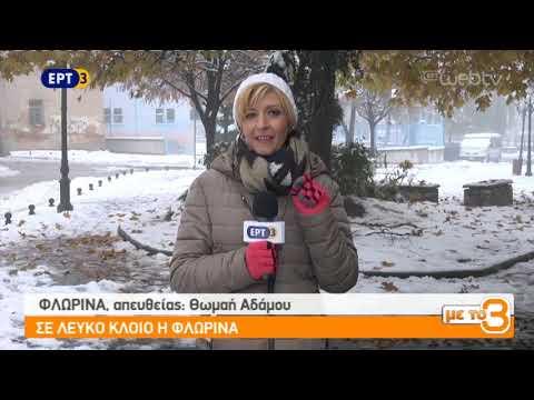 Σε λευκό κλοιό η Φλώρινα | 19/11/2018 | ΕΡΤ
