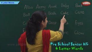 4 Letter Words   Four Letter Phonics Words   Sight Words   Pre School Kindergarten