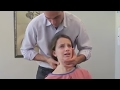 Young Girl has ACUTE NECK PAIN