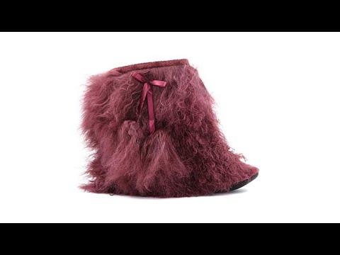 Rara Avis by Iris Apfel Mongolian Fur Booties