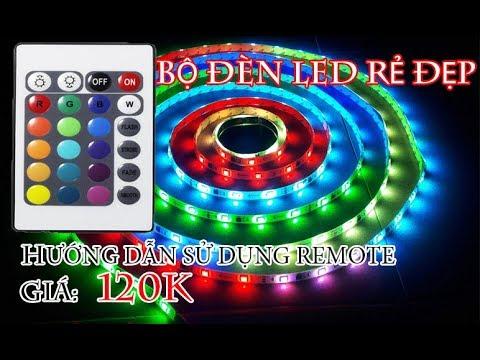 MỞ HỘP BỘ DÂY ĐÈN LED RGB 5M VÀ HƯỚNG DẪN SỬ DỤNG REMOTE - MUA HÀNG ONLINE
